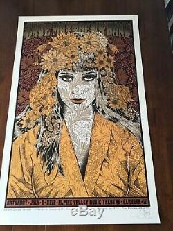 Chuck Sperry Dave Matthews Band poster 2016 East Troy Alpine S/N MINT CONDITION