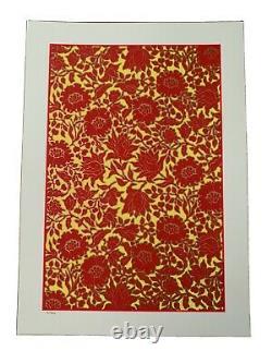 Chuck Sperry Floral Print Flower Gold Metallics Wsp Dmb Poster