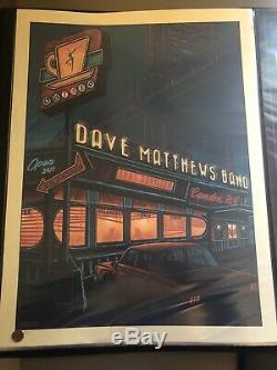 DAVE MATTHEWS BAND DMB Poster 2019 Camden NJ Suburban Avenger / Luke Martin