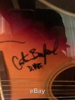 DAVE MATTHEWS BAND SIGNED FRAMED AUTHENTIC ACOUSTIC GUITAR withCOA LEROI MOORE X5