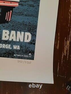 DMB Dave Matthews Band Gorge N1 VW BUS Poster Methane Studios signed #650/830