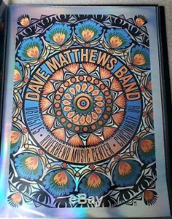 DMB Dave Matthews Band Poster Cincinnati, OH Riverbend 6/5/15 FOIL VARIANT RARE