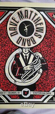 DMB Dave Matthews Band Poster Columbus, OH Ohio State 11/27/18