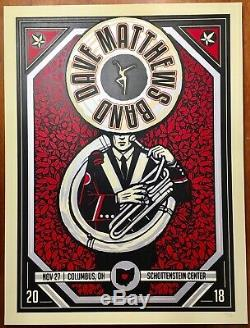 DMB Dave Matthews Band Poster Columbus, OH Ohio State 11/27/18 NR MINT #/755