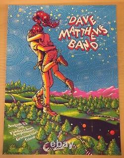 DMB Dave Matthews Band Poster Holmdel, NJ 7/18/18 JAMES FLAMES 653/750 NR MINT