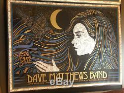 DMB Dave Matthews Band Poster SLATER 6.29.19 Deer Creek Noblesville SE NR MINT