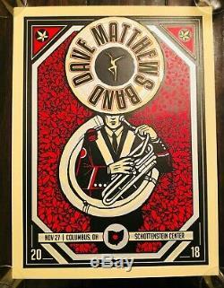 DMB Dave Matthews Band Print Poster Columbus Ohio State Buckeyes Tuba x/755 MINT