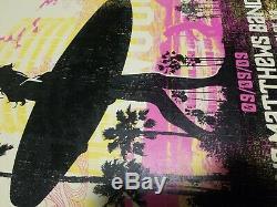 DMB Dave Matthews Band poster Los Angeles Greek 9/9/09 Surfer Mint Signed AP