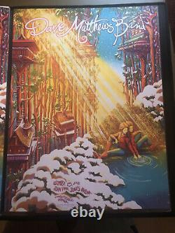 DMB Dave Matthews Print Poster James Flames Charlottesville N2 12/15/18