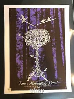 Dave Matthews Band 2008 Alpine N1 flower drum poster methane dmb Carter Beauford