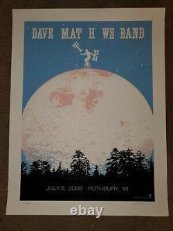 Dave Matthews Band 2008 Rothbury Music Festival Poster Signed #220/325 Rare