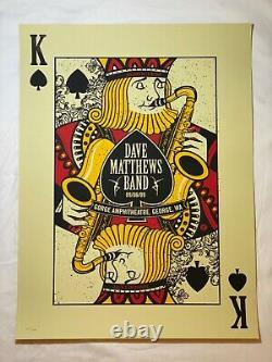 Dave Matthews Band 2009 Gorge King of Spades Sax poster print methane dmb