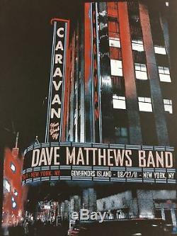 Dave Matthews Band 2011 Methane Studios poster New York, NY Governor's Island