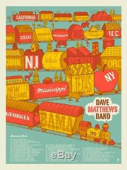 Dave Matthews Band 2013 Summer Tour Poster Signed & Numbered #/4500