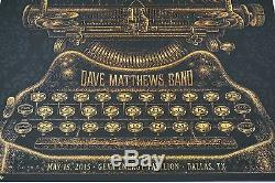 Dave Matthews Band 2015 Todd Slater DMB Dallas poster
