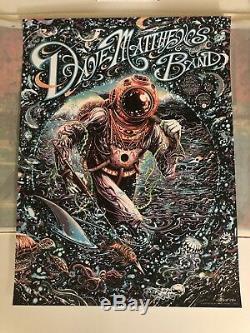 Dave Matthews Band 2018 Virginia Beach Poster Screen Print Miles Tsang Signed #d