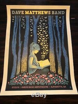 Dave Matthews Band 2019 Alpharetta Atlanta GA Methane Studios print poster /750