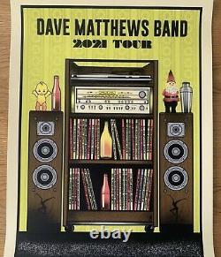Dave Matthews Band 2021 Tour Poster Raleigh, Charlotte, Alpharetta, Tampa