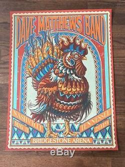 Dave Matthews Band 5/11//2019 Bridgestone Arena Nashville, TN Kwok Cock Poster
