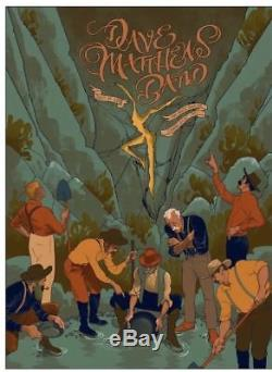 Dave Matthews Band 7/24/2018 Concert Poster Charlotte NC Rich Kelly AP xx/35