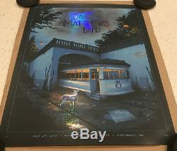 Dave Matthews Band AP Foil Poster Print Cincinnati Riverbend Moegly DMB