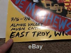 Dave Matthews Band Alpine Valley 1st Poster! Rare! 2003 Steve Keene DMB