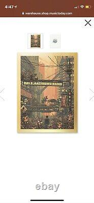 Dave Matthews Band Ants Marching Song Poster Gold Foil XX/500