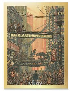 Dave Matthews Band Ants Marching Song Poster by Luke Martin Gold Foil XX/500