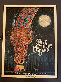 Dave Matthews Band August 30, 2019 Gorge Amphitheater Quincy, Wa concert Poster