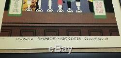 Dave Matthews Band Bartender Riverbend Poster Cincinnati, OH, 2012 VERY RARE