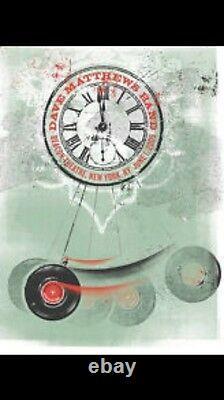 Dave Matthews Band Beacon Theater June 1 2009 Clock Concert Poster New York Ny