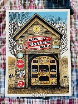 Dave Matthews Band Bethel Woods Center Bethel NYJune 19 2019 Bus Poster