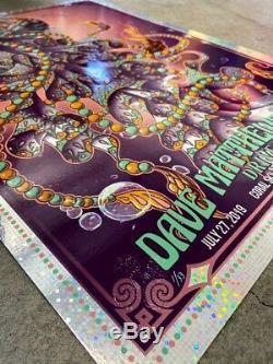 Dave Matthews Band Biojelly Drive In Poster Bioworkz 7/27/19 DONUTS FOIL XX/33