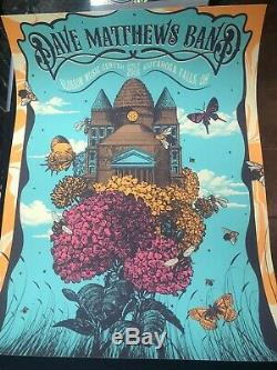 Dave Matthews Band Blossom Poster Print 2018 DMB Status Serigraph Justin Helton