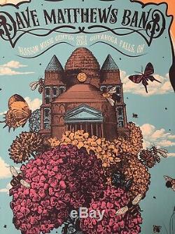 Dave Matthews Band Blossom Poster Print 2018 Status Serigraph Justin Helton DMB