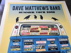 Dave Matthews Band Blue Variant Van 2018 Tour Poster
