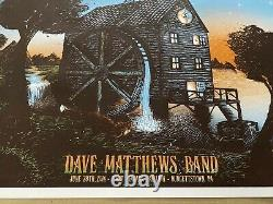 Dave Matthews Band Burgettstown Pa Concert Poster