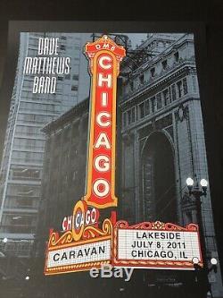 Dave Matthews Band CARAVAN 7/08/11 Chicago Theatre Marquee poster Methane
