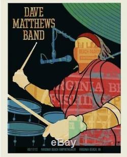 Dave Matthews Band Carter Beauford Member Series Silhouette Poster Virgina Beach