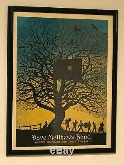 Dave Matthews Band Charlottesville 11/20/10 Treehouse 2010 Framed Concert Poster
