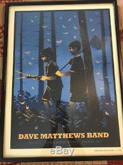Dave Matthews Band Concert Poster Gorge Amphitheatre 9/1/13 Framed
