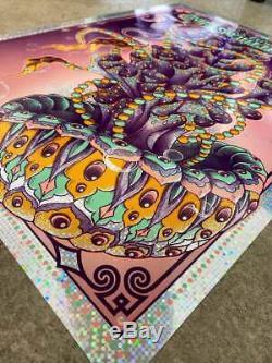 Dave Matthews Band DMB Biojelly Poster Bioworkz 7/27/19 DONUTS FOIL XX/33