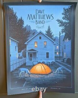 Dave Matthews Band DMB Drive-In Poster 7/14/10 Toyota Pavilion Scranton PA