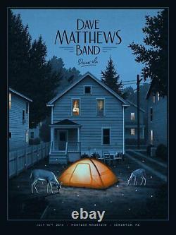 Dave Matthews Band DMB Drive-In Scranton Poster Print Moegly AP Variant FOIL