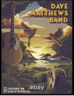 Dave Matthews Band DMB Gilford, NH show poster gig print Bailey Race 8/24