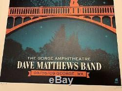 Dave Matthews Band DMB Gorge George Washington Bridge Poster 9/5/09 Methane