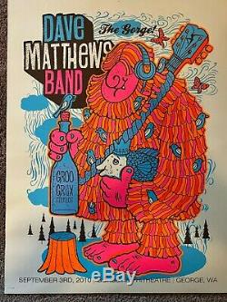 Dave Matthews Band DMB Gorge Poster Sasquatch Set 2006 2007 2008 2010 Free S&H