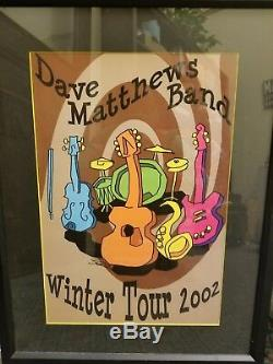 Dave Matthews Band DMB Official Concert Poster Winter Tour 2002