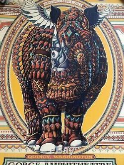 Dave Matthews Band DMB Poster 2019 Gorge WA Weekend Rhino Ben Kwok #/1300 MINT