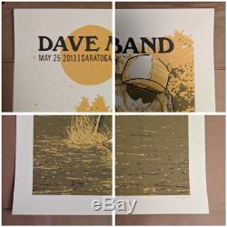 Dave Matthews Band DMB Poster 5/25/13 Saratoga Performing Arts Center SPAC